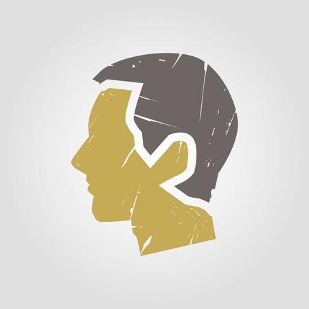 side profile: head