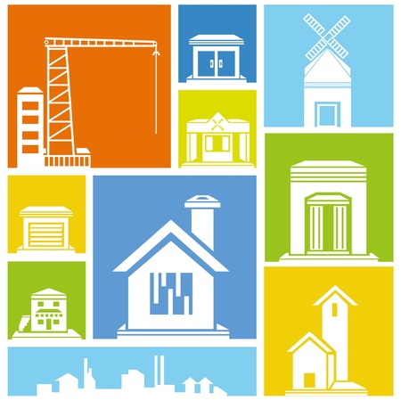 city, metropolis background, building icon, colorful background Stock Vector - 21506545