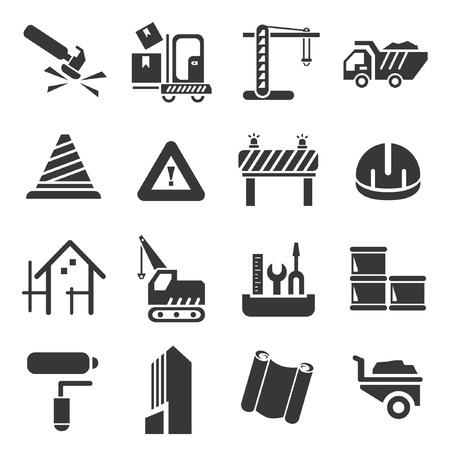 construction management: construction icons set