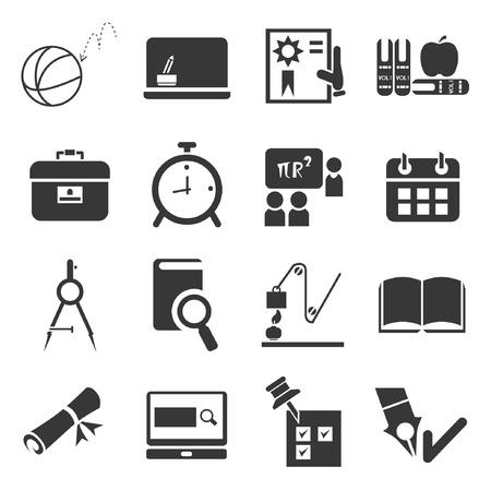 academy: school icons set Illustration