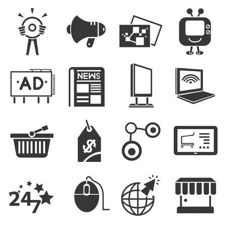 online, internet marketing concept icons Illustration