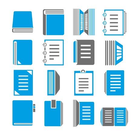 documentation: document icons set, blue theme