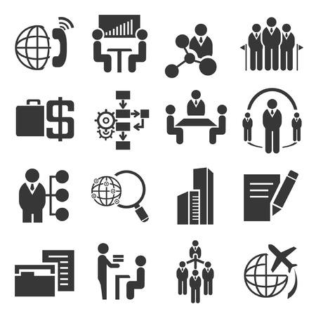 consulting services: business icons, human resource icons