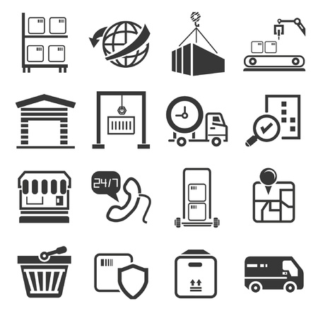 shipping icons set Stock Vector - 21909259