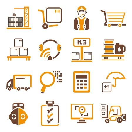 manage: shipping management icons, orange theme