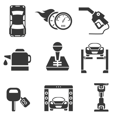 lave: automotive icons, car parts and garage icons
