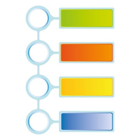 ビジネス図の 4 つのステップ  イラスト・ベクター素材