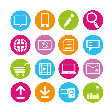 handy cam: web icons set