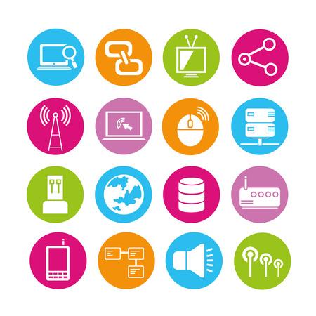 mouse click: web and tech icons set