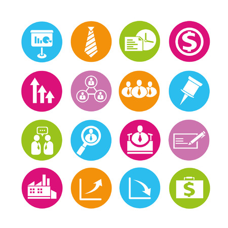human resource icons, buttons set Vector