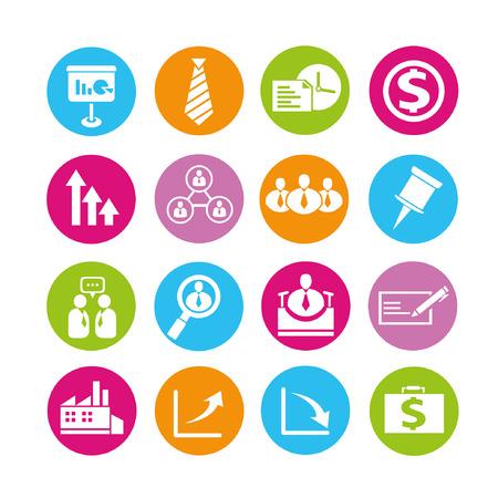 organizational chart: human resource icons, buttons set