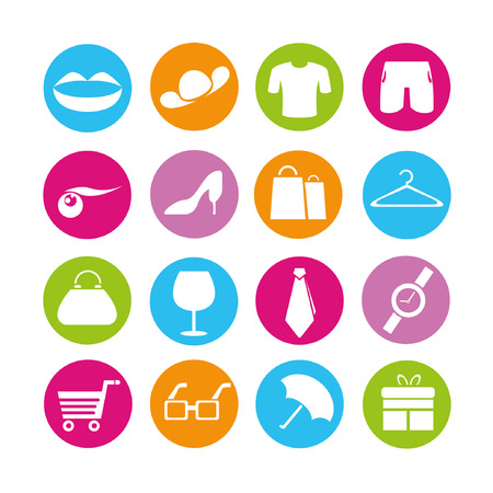 shopping icons, buttons set Stock Vector - 22321773