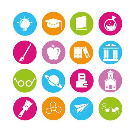 fresh graduate: education icons set, buttons