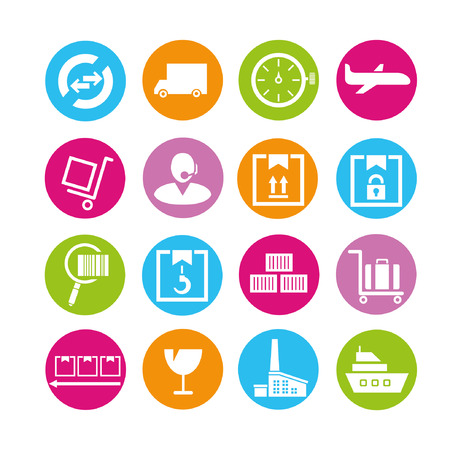 logistics icons, buttons set Stock Vector - 22321830