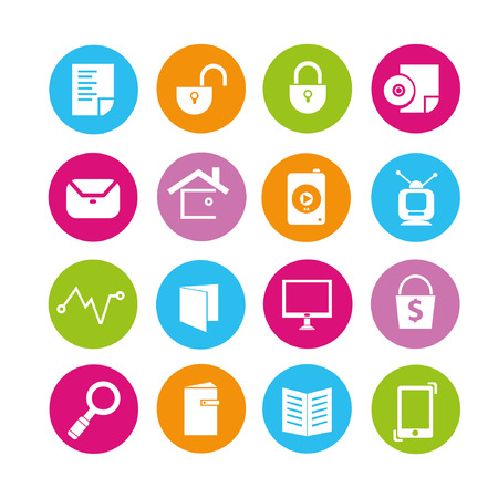 log book: web icons set, buttons Illustration
