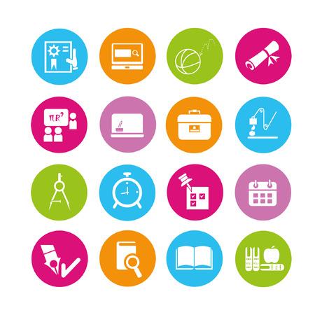 iconos educacion: iconos set educaci�n, botones