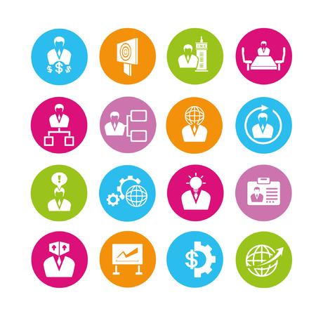 allocate: business management icons set, buttons Illustration