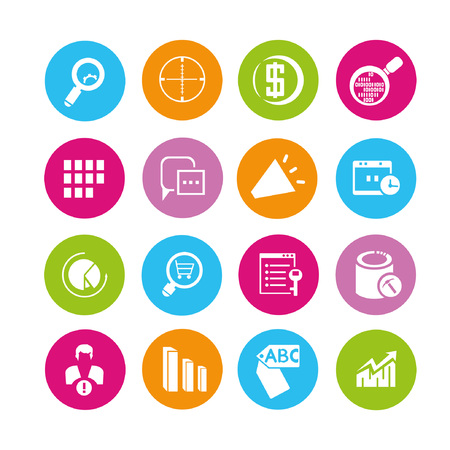 web icons set, buttons Stock Vector - 22321927