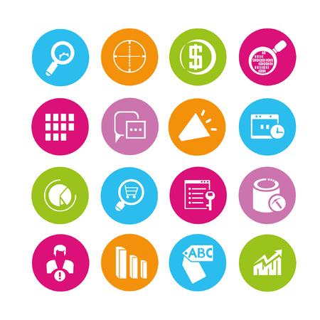 web icons set, buttons Illustration
