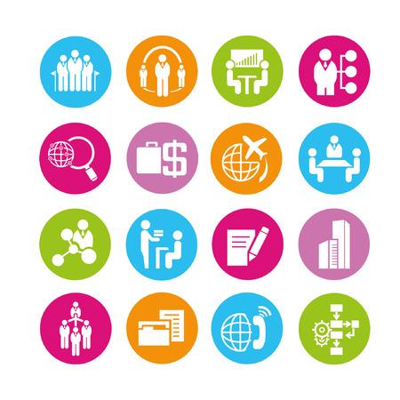 gestion des affaires ensemble d'icônes, boutons Vecteurs