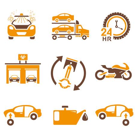 overhaul: icone AUTO SET, tema arancione