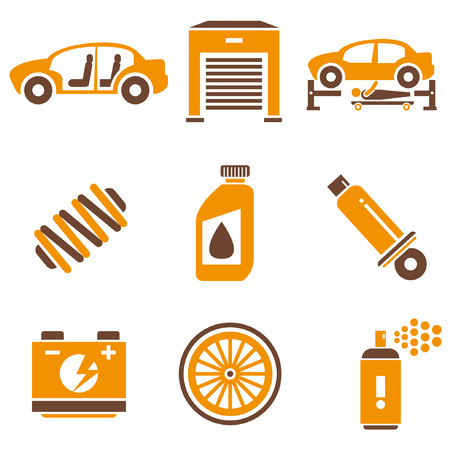 overhaul: auto icons set, orange theme Illustration