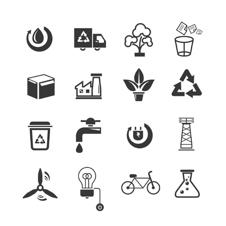 energy icons set Stock Vector - 22487935