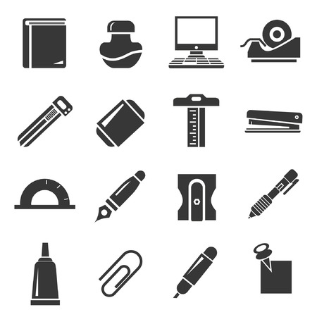 sacapuntas: iconos Set estacionario