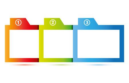 balanced scorecard: three topics diagram, business template