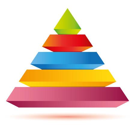 ピラミッド型図表、ビジネス テンプレート