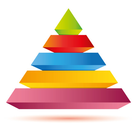 colour chart: pyramid diagram, business template