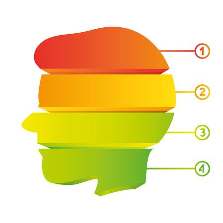 envisage: colorful head diagram, creative diagram Illustration