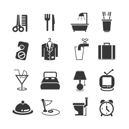 recess: hotel icon set
