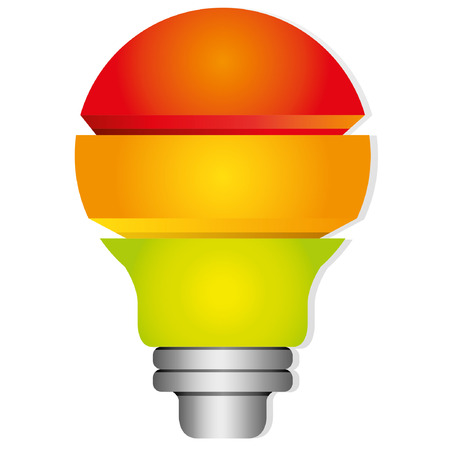 notion: colorful light bulb diagram Illustration