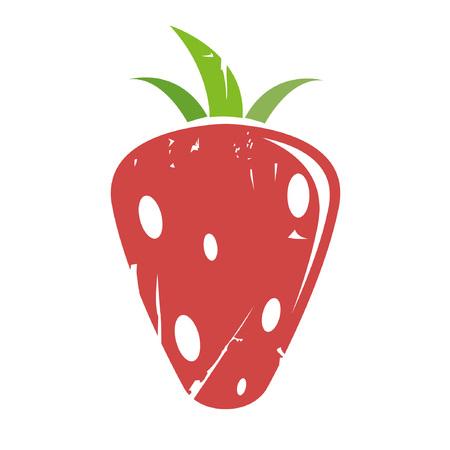 healty food: strawberry Illustration