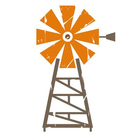 windmill: wind turbine Illustration