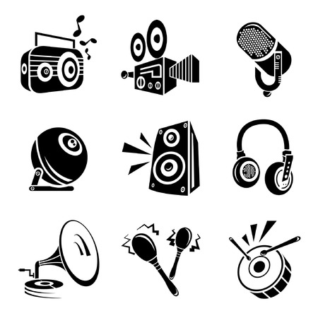 aria: Iconos de instrumentos musicales Vectores