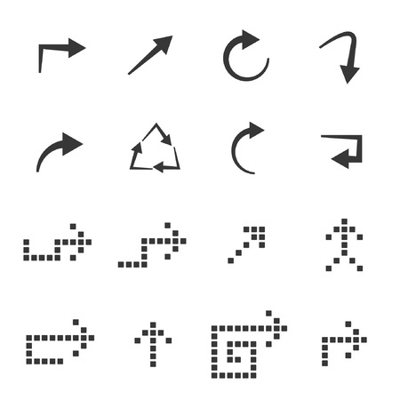 indent: sketched arrows set