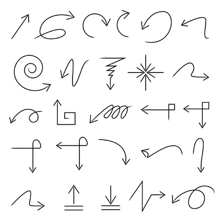 sketched arrows set Vector