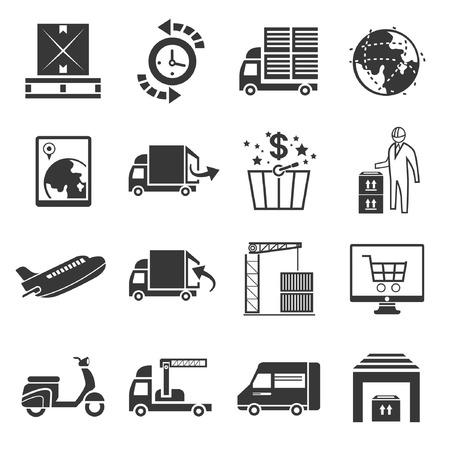 shipping icon set Stock Vector - 22488013