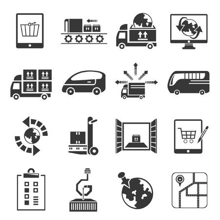 relocate: shipping icon set Illustration