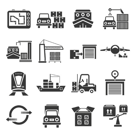 shipping icon set Illustration