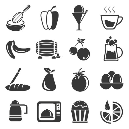 intoxicant: food icon set