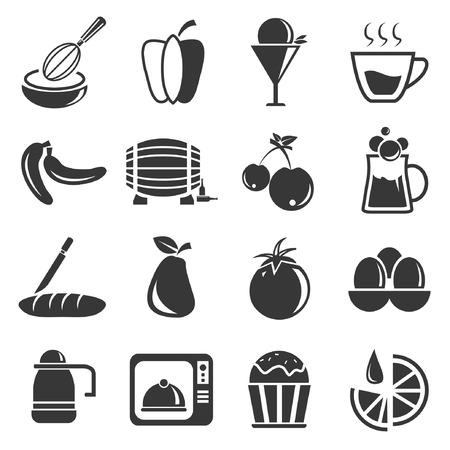 potation: food icon set