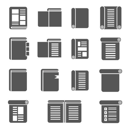 book, document icons Stock Vector - 22488062
