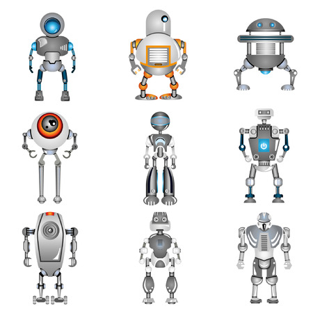 color robot icons Stock Vector - 22488122