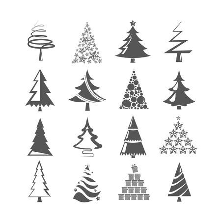 simple: ?rbol de Navidad Vectores
