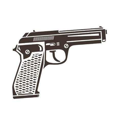 gun silhouette: gun