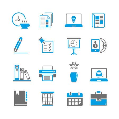 printer icon: office icon set, blue theme