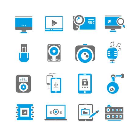 computer icon set: computer icon set, blue theme